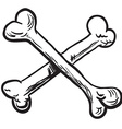 simple black and white crossed bones vector image