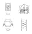 telephone automatic gazebo garbage can wall for vector image