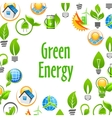 Green Energy eco environment poster vector image vector image