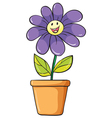 a flower plant in a pot vector image vector image