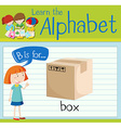Flashcard letter B is for box vector image