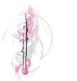 abstract flute vector image vector image