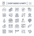 event agency wedding organization line vector image