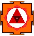 chinnamasta yantra vector image vector image