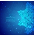 Blue Vintage Indian Ornament vector image vector image