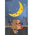 Cats and the moon vector image