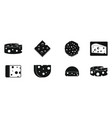cheese icon set simple style vector image