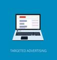 flat style web banner modern digital marketing vector image