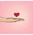Love confession vector image