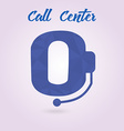 Polygonal icon for call center or hotline support vector image
