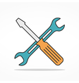 Service Flat Line Icon vector image