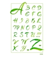 Set hand-drawn calligraphy alphabet on white vector image