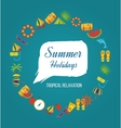 Summer holiday flat icons set vector image