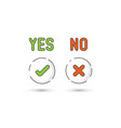 yes no simple icons vector image