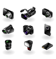 Electronics icon set - Cameras and camcorders vector image vector image