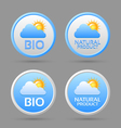 Bio and natural product badge icons vector image vector image