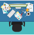 Business manager workplace vector image vector image