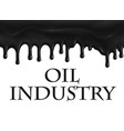 poster for oil and gas industry vector image