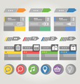 Interface bars template with icons vector image