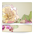 Greeting card and banner vector image