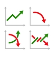 Business Graphic Set with Red and Green Arrows vector image vector image