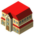 3d design for big house with red roof vector image