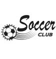 Vintage emblems labels Football icons Soccer vector image
