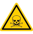 danger sign with skull and bones vector image vector image