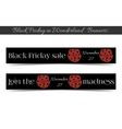Banners Black Friday Sale in Wonderland - Cookie vector image