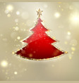 abstract christmas tree background eps 10 vector image
