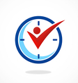 active people time logo vector image