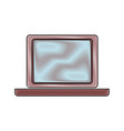 computer laptop device object display blank vector image