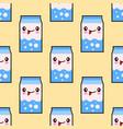 milk smiley kawaii cartoon character seamless vector image