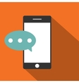 Mobile phone flat icon vector image
