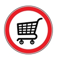 no cart sign 4 vector image