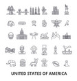 usa america new york statue of liberty united vector image