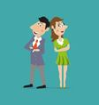 girl and guy family vector image
