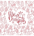 Greeting card with phrase Merry Christmas and vector image vector image