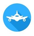 Flat long shadow air plane icon vector image