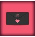 Black stylish love envelope Elegant passion vector image