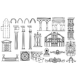 architecture and ornaments set vector image