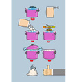 Cooking dumplings instruction in Picture Cooking vector image