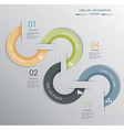 Minimal Timeline Infographic design vector image vector image