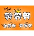 Teeth orange cartoons vector image vector image