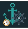 anchor emblem icon image vector image