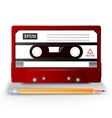 close up of vintage audio tape vector image