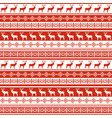 ethnic nordic pattern with deer vector image
