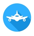Flat long shadow air plane icon vector image