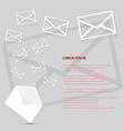 Mail background vector image
