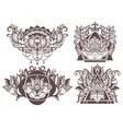 set of boho lotus vector image